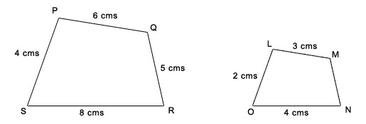Printables Similar Polygons Worksheet ricksmath similar figures not only are the corresponding angles same size in polygons but also sides proportional we can use ratios to help find missing